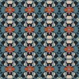 Modelo geométrico antiguo en la repetición Impresión de la tela Fondo inconsútil, ornamento del mosaico, estilo étnico Fotos de archivo