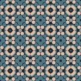 Modelo geométrico antiguo en la repetición Impresión de la tela Fondo inconsútil, ornamento del mosaico, estilo étnico Imágenes de archivo libres de regalías