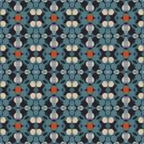 Modelo geométrico antiguo en la repetición Impresión de la tela Fondo inconsútil, ornamento del mosaico, estilo étnico Fotografía de archivo libre de regalías