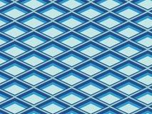 Modelo geométrico azul Foto de archivo