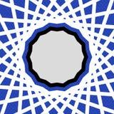 Modelo geométrico azul Foto de archivo libre de regalías