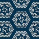 Modelo geométrico azul japonés stock de ilustración
