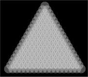 Modelo geométrico bajo la forma de flores abstractas en fondo negro Imagenes de archivo