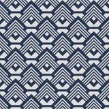 Modelo geométrico blanco azul japonés stock de ilustración