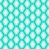 Modelo geométrico blanco en fondo azul Fotos de archivo