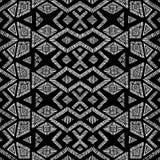 Modelo geométrico blanco y negro Fondo inconsútil handmade Imagenes de archivo