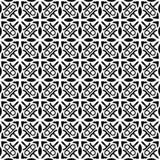 Modelo geométrico blanco y negro inconsútil Imagen de archivo