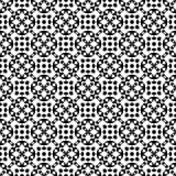 Modelo geométrico blanco y negro inconsútil Foto de archivo libre de regalías