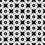 Modelo geométrico blanco y negro inconsútil Foto de archivo