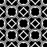 Modelo geométrico blanco y negro inconsútil Imagen de archivo libre de regalías