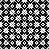 Modelo geométrico blanco y negro inconsútil Fotografía de archivo