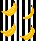 Modelo geométrico brillante del plátano Foto de archivo