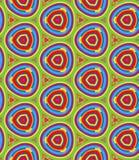 Modelo geométrico brillante en la repetición Impresión de la tela Fondo inconsútil, ornamento del mosaico, estilo étnico stock de ilustración