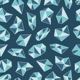 Modelo geométrico con los cristales en estilo del polígono ilustración del vector
