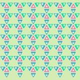Modelo geométrico con los triángulos Imagenes de archivo