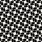 Modelo geométrico de la forma cruzada blanco y negro inconsútil de la flecha del vector Fotografía de archivo