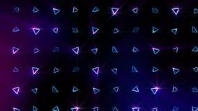 Modelo geométrico de la pirámide Baile de la pirámide Animación del lazo del símbolo del negocio Diseño de red del negocio libre illustration