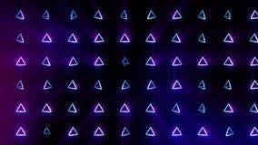 Modelo geométrico de la pirámide Baile de la pirámide Animación del lazo del símbolo del negocio Diseño de red del negocio ilustración del vector