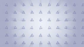 Modelo geométrico de la pirámide Baile de la pirámide Animación del lazo del símbolo del negocio Diseño de red del negocio stock de ilustración