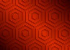 Modelo geométrico de papel rojo, plantilla abstracta para el sitio web, bandera, tarjeta de visita, invitación del fondo Imágenes de archivo libres de regalías