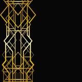 Modelo geométrico del art déco Foto de archivo libre de regalías