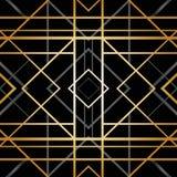 Modelo geométrico del art déco Fotografía de archivo libre de regalías