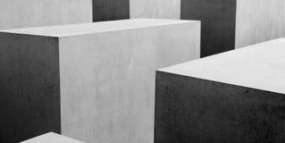 Modelo geométrico del b&w abstracto Foto de archivo
