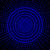 Modelo geométrico del círculo del vector, fondo de las luces que brilla intensamente, ejemplo futurista libre illustration