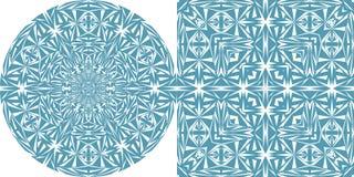 Modelo geométrico del círculo y del cuadrado Imagen de archivo libre de regalías