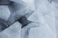 Modelo geométrico del hielo del lago Baikal Textura del invierno Imagen de archivo libre de regalías