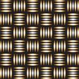Modelo geométrico del ovale del extracto con las líneas fondo inconsútil del oro del vector stock de ilustración