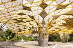 Modelo geométrico del pabellón en el parque botánico de Perdana, Kuala Lumpur foto de archivo