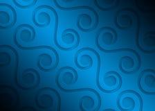 Modelo geométrico del papel azul, plantilla abstracta para el sitio web, bandera, tarjeta de visita, invitación del fondo Foto de archivo libre de regalías