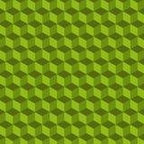 Modelo geométrico del vector del cubo Fondo verde Imagen de archivo libre de regalías
