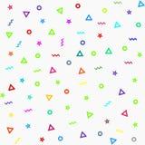Modelo geométrico del vector Forme un triángulo, una estrella, una línea, un círculo ilustración del vector