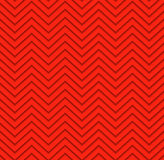 Modelo geométrico del zigzag inconsútil rojo stock de ilustración