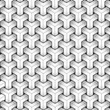 Modelo geométrico, fondo blanco y negro, moderno ilustración del vector