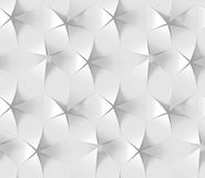 Modelo geométrico hexagonal abstracto blanco Estilo de papel de la papiroflexia 3D que rinde textura inconsútil Imagenes de archivo