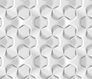 Modelo geométrico hexagonal abstracto blanco Estilo de papel de la papiroflexia 3D que rinde textura inconsútil Imágenes de archivo libres de regalías