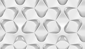 Modelo geométrico hexagonal abstracto blanco Estilo de papel de la papiroflexia 3D que rinde textura inconsútil Foto de archivo
