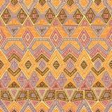 Modelo geométrico inconsútil Adornos del bordado handmade Foto de archivo libre de regalías