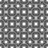 Modelo geométrico inconsútil, backgr simple blanco y negro del vector ilustración del vector