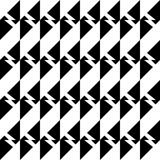 Modelo geométrico inconsútil blanco y negro foto de archivo