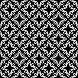 Modelo geométrico inconsútil blanco y negro imagen de archivo
