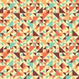 Modelo geométrico inconsútil con el triángulo Imagen de archivo