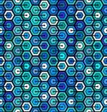 Modelo geométrico inconsútil con hexágonos ilustración del vector