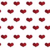 Modelo geométrico inconsútil con los corazones Fondo del día de tarjetas del día de San Valentín Fondo plano Fotos de archivo libres de regalías