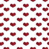 Modelo geométrico inconsútil con los corazones Fondo del día de tarjetas del día de San Valentín Fondo plano Imagen de archivo