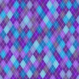 Modelo geométrico inconsútil con los Rhombus azules, grises y violetas stock de ilustración