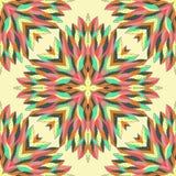 Modelo geométrico inconsútil con rectángulos ornamentales Fotografía de archivo